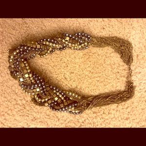 Bebe Black and Gold bead necklace